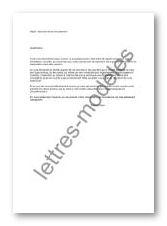 Modèle de lettre type - Absence d'avis de paiement 2