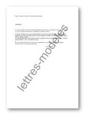 Modele Et Exemple De Lettres Type Accident Du Travail Mi Temps