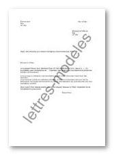lettre type demande aide financiere