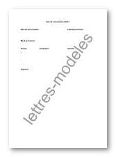 Modele Et Exemple De Lettres Type Bon De Livraison