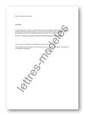 Modèle et exemple de lettres type : Déclaration de créances