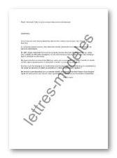 modele lettre pension alimentaire