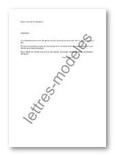 exemple de lettre de derogation
