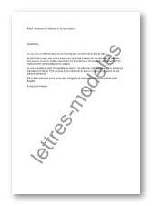demande de titre de sejour lettre type