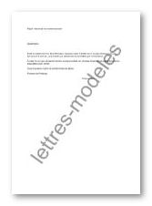 Mod le et exemple de lettres type demande de remboursement des primes d 39 - Lettre de demande de remboursement ...