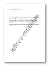 lettre type pour demande de retraite