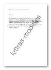 Modele Lettre Demande De 4 5eme Document Online
