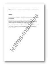 Modele lettre demande information exemple de demande de