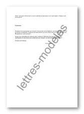 Modele Et Exemple De Lettres Type Demande Participation Forum D