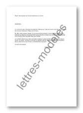 Modèle et exemple de lettres type : Dénonciation de ...