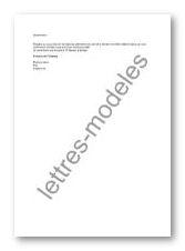 lettre de confirmation de rendez vous