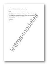 reservation hôtel lettre