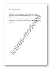 Mod le et exemple de lettres type mail r servation d for Reservation d une chambre