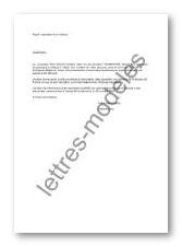 Modèle et exemple de lettres type : Opposition à chèque