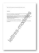 lettre refus reclassement