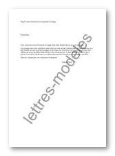 Modele de lettre de reclamation pour non paiement
