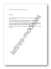 modèle et exemple de lettres type : réservation d'une chambre d