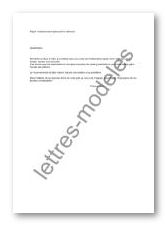 lettre pour stationnement genant