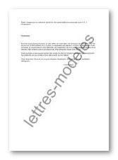 Modele Et Exemple De Lettres Type Suspension Du Contrat De Travail