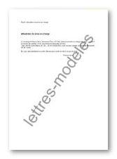 Modèle Et Exemple De Lettres Type Attestation De Prise En