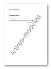 Modèle et exemple de lettres type : Certificat d'hébergement