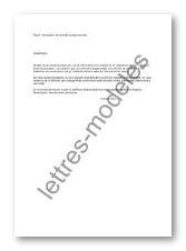 Modèle Et Exemple De Lettres Type Déclaration De Maladie