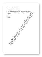 Modèle Et Exemple De Lettres Type Mail Demande De