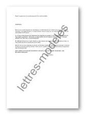 Modèle Et Exemple De Lettres Type Suspension De